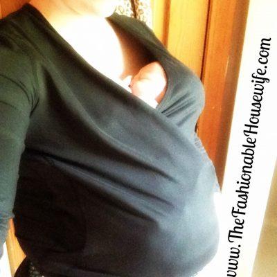 Wearing: NüRoo Pocket Babywearing Shirt