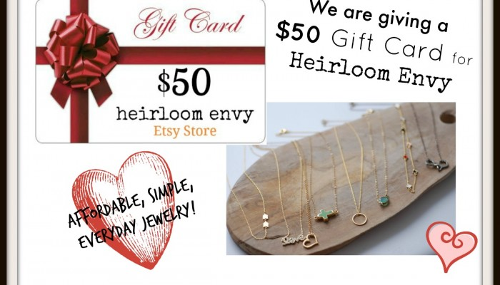 Heirloom Envy Gift Card Giveaway