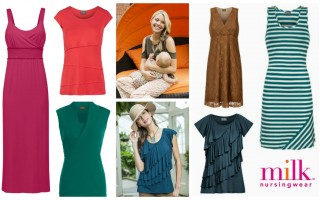 Fashionable Nursing Breastfeeding Tops & Dresses
