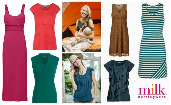 Fashionable Nursing Breastfeeding Tops & Dresses
