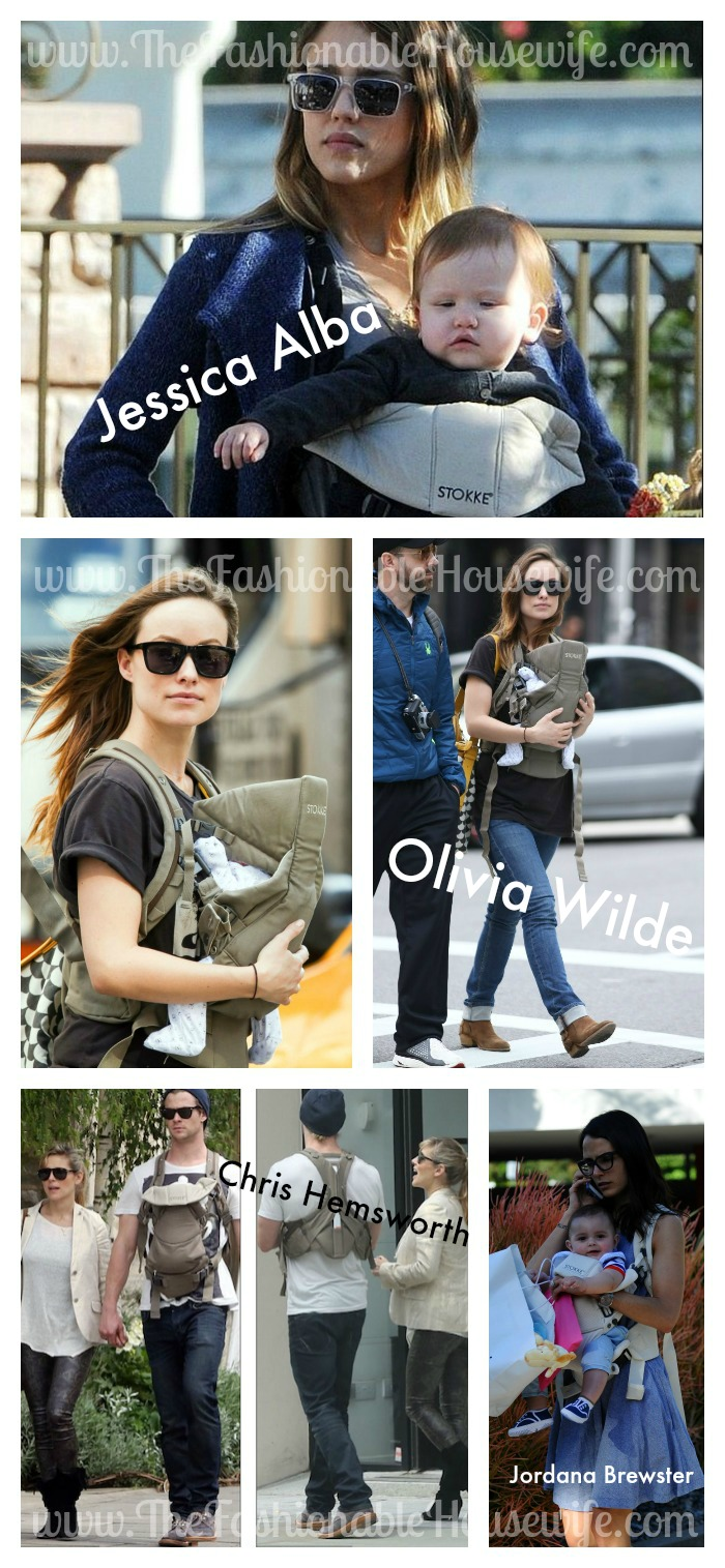 Stokke Carrier Celebrity Collage