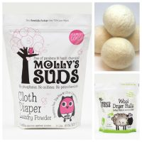 cloth diaper detergent and wool dryer balls