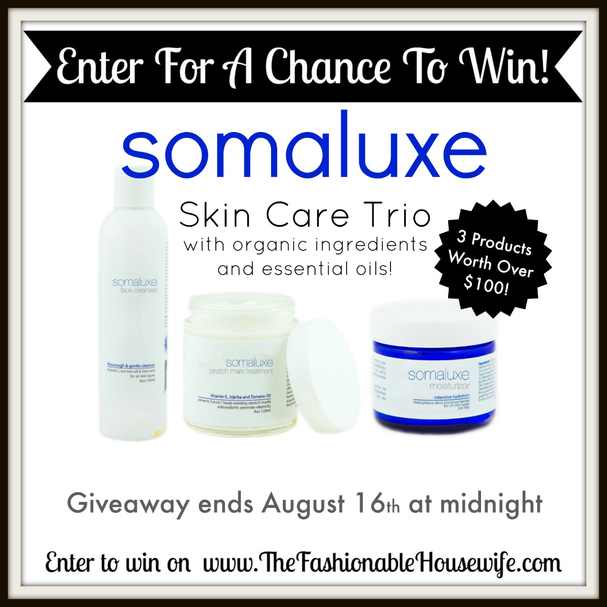 enter to win somaluxe  products