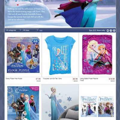 Let It Go! FROZEN Sale on Zulily!