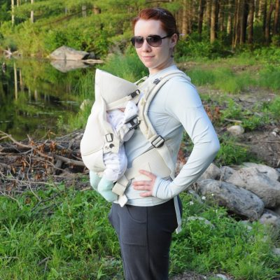 Today's Outfit: Stokke MyCarrier Cool Baby Carrier