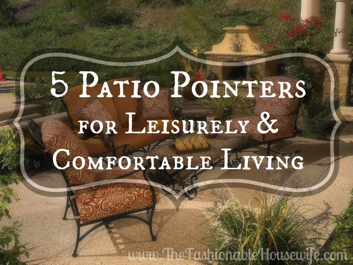 5 patio pointers
