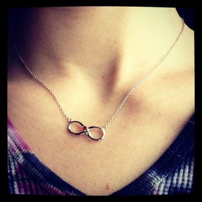 Personalized Birthstone Necklace from Eve's Addiction