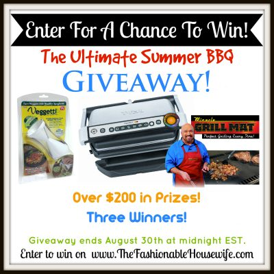 Enter our Ultimate Summer BBQ Giveaway! $200+ worth of Prizes!