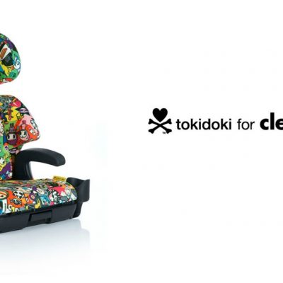 The Clek Oobr Booster Seat in Adorable tokidoki Travel Print