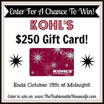 Kohl's Yes2You Rewards Program AND $250 KOHL'S Gift Card Giveaway!