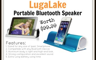 LuguLake Portable Bluetooth Speaker worth $99.99!