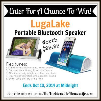 LuguLake Portable Bluetooth Speaker worth $99.99!