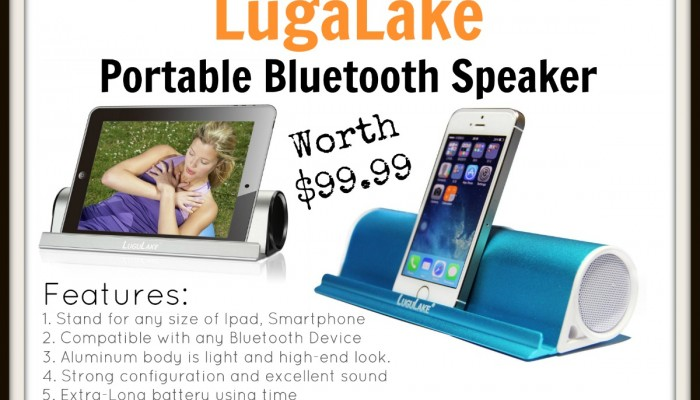 Enter For A Chance To Win a LugaLake Bluetooth Speaker