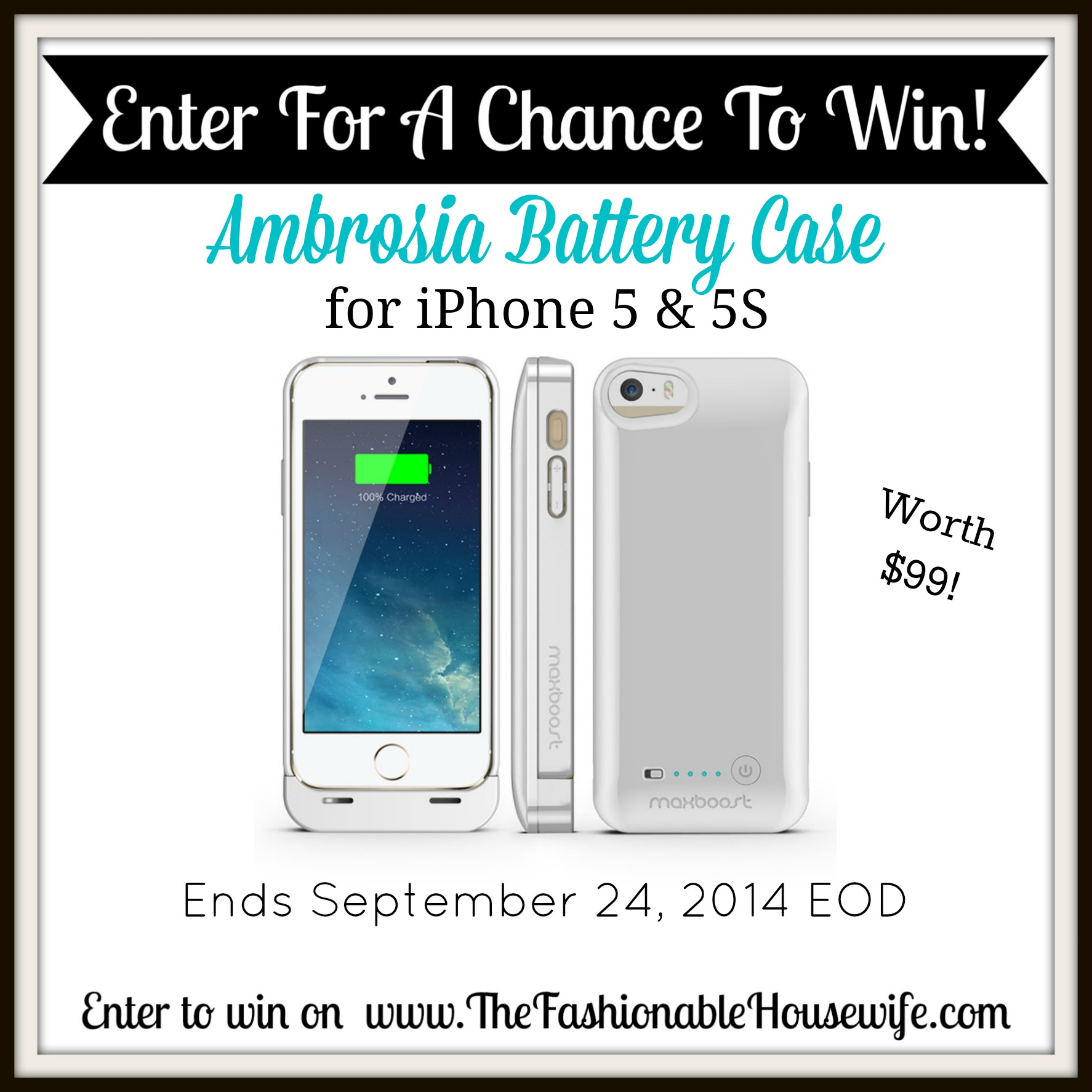 Enter to win a Maxboost Ambrosia Battery Case!