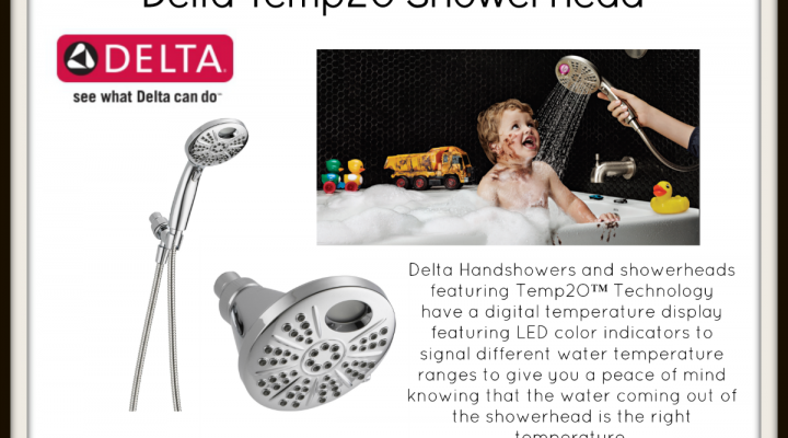 Enter Our Delta Temp2O Showerhead #HappiMess GIVEAWAY!