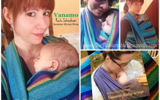 Vanamo Ruutu Sateenkaari Rainbow Woven Wrap