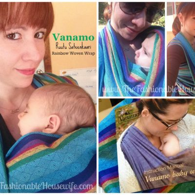 NEW Vanamo Ruutu Sateenkaari Rainbow Woven Wrap