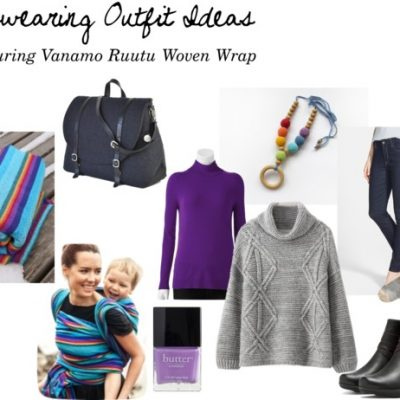 Babywearing Outfit Ideas: Vanamo Rainbow Woven Wrap