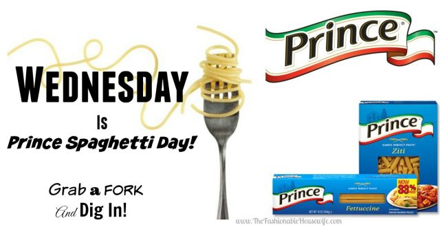 Wednesday Is Prince Spaghetti Day!