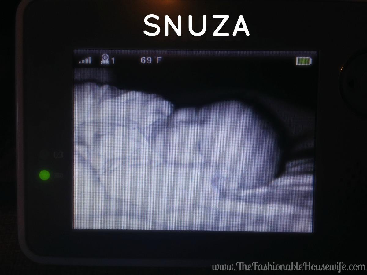 snuza baby monitor screen