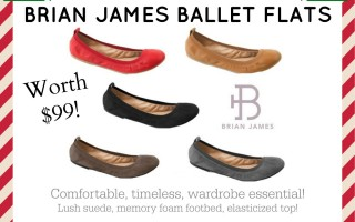Enter for a chance to win Brian James ballet flats