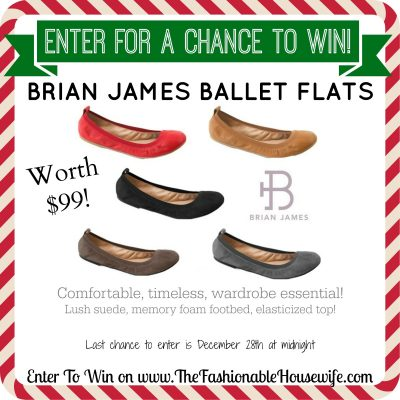 Enter For A Chance To Win Brian James Ballet Flats worth $99! #12DaysofChristmasGiveaways