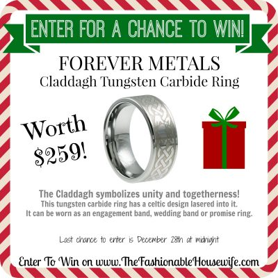 Enter For A Chance To Win Beveled Tungsten Claddagh Ring worth $259! #12DaysofChristmasGiveaways