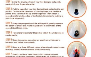 turkey nail art tutorial