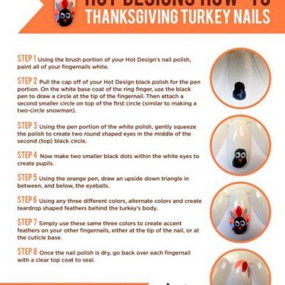 Nail Art Tutorial: Thanksgiving Turkey Nails