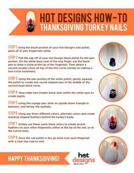 Nail Art Tutorial: Thanksgiving Turkey Nails