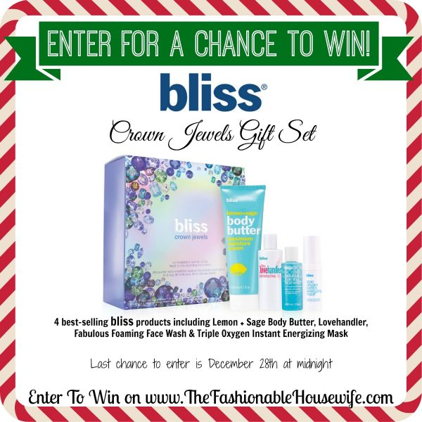 Enter For A Chance To Win BLISS Crown Jewels Gift Set ($65 Value) #12DaysofChristmasGiveaways