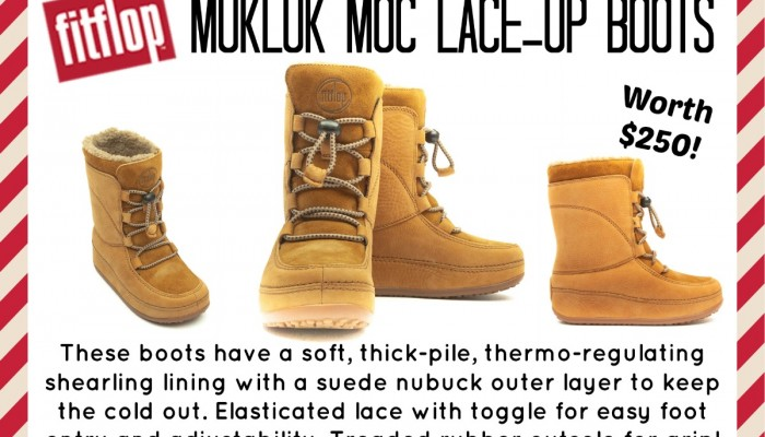 Enter for a chance to win FitFlop Mukluk Boots from Cloggs