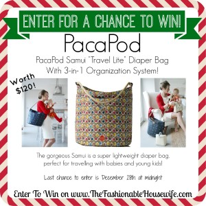 Enter for a chance to win PacaPod Samui Diaper Bag