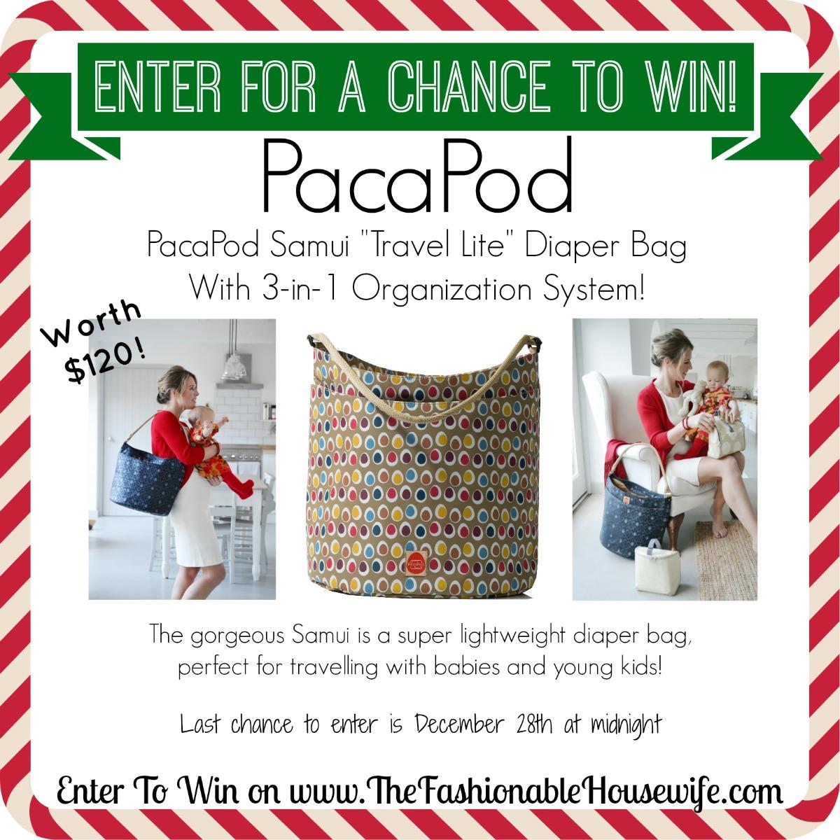 Enter for a chance to win PacaPod Samui Diaper Bag