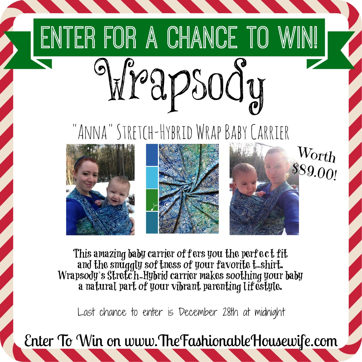 Enter for a chance to win Wrapsody Hybrid Stretch Wrap Baby Carrier