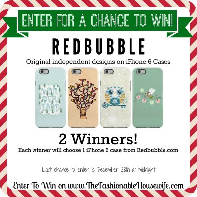 Enter For A Chance To Win iPhone 6 Case from REDBUBBLE! 2 Winners! #12DaysofChristmasGiveaways