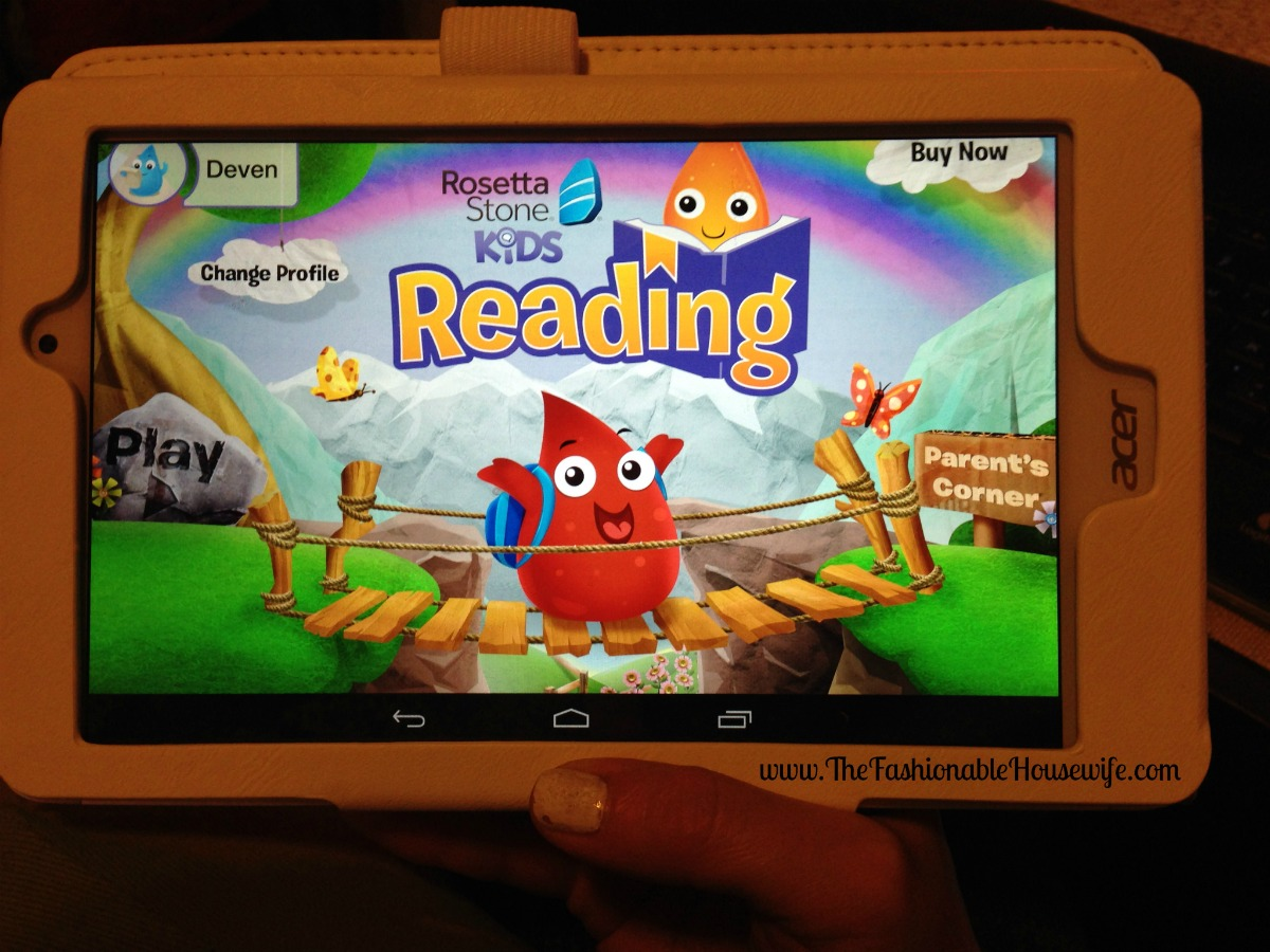 We're Homeschooling with Rosetta Stone Kids Reading Program