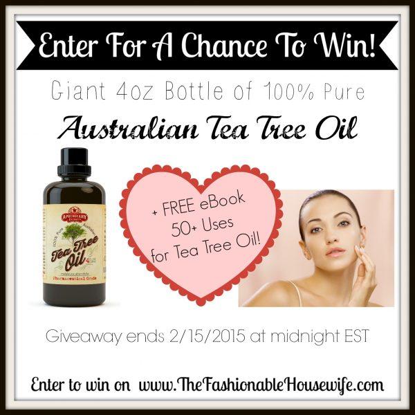 Enter To Win a Giant 4oz Bottle of Tea Tree Oil