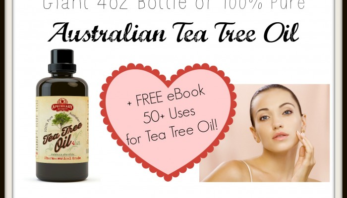 Enter To Win a Giant 4oz Bottle of Tea Tree Oil
