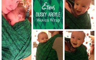 Ethos 'Dusky Argyle' Woven Wrap Baby Carrier