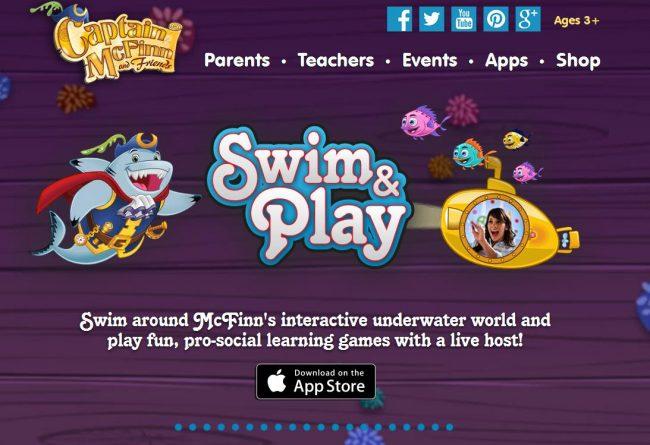 captain mcfinn swim and play app