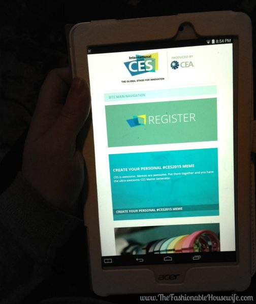 ces website on tab 8 intel tablet
