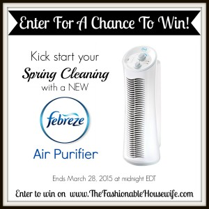 Enter To Win FEBREZE Air Purifier