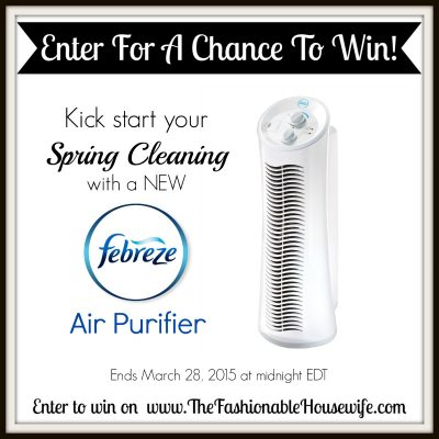 Spring Cleaning Tips and Giveaway for a Febreze Air Purifier!