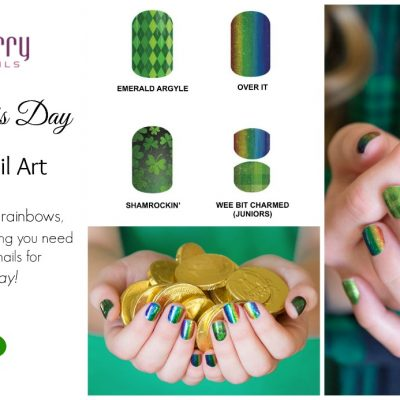 Shamrockin' St. Patrick's Day Nail Art from Jamberry