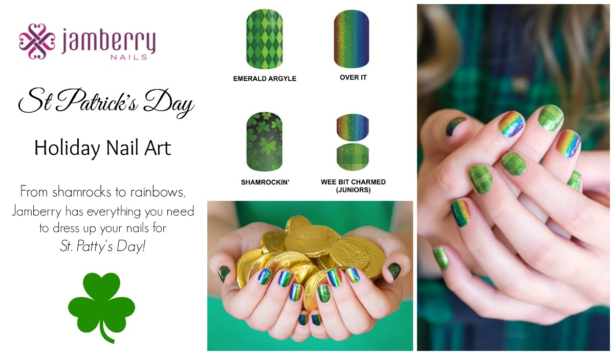 Shamrockin St Patricks Day Nail Art From Jamberry The