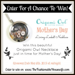 Enter To Win Origami Owl Mothers Day Necklace