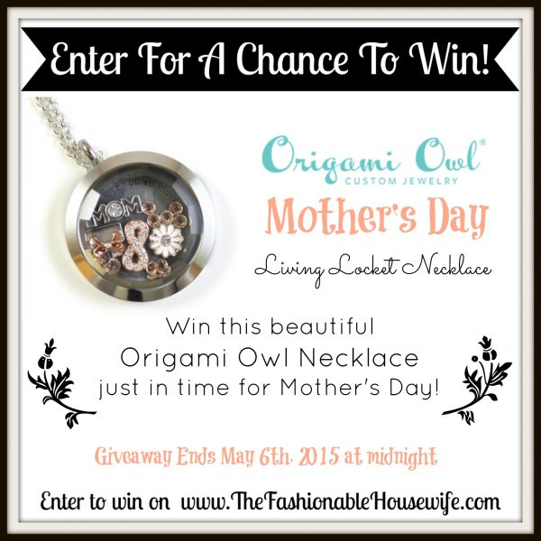 Mother's Day Origami Owl Necklace FLASH Giveaway!