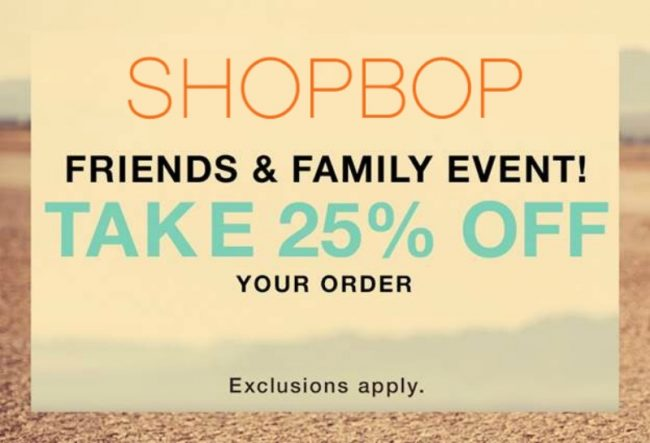 HUGE Shopbop Friends & Family Event Starts NOW!