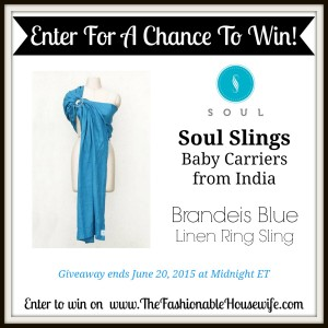 Enter To Win Soul Slings Linen Ring Sling Baby Carrier